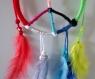Attrape rêves / dream catcher peace and love multicolore