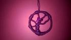 Déco suspension bel arbre violet avec papillon