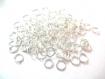 Lot 50 anneaux de jonction 5mm couleur argent