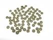 50 perles intercalaire fleur en métal 4mm couleur bronze