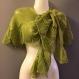 Châle vert tricote