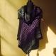 Poncho (robe) + col tricote main