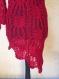 Robe- tounique asymetrique rouge brillant
