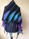 Châle tricote main asymétriques
