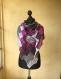 Châle tricote à la main