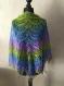 Châle tricote à la main en 100% laine