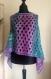 Poncho tricote main en fil( 70% acrylique 20%laine 10% mohair)