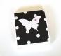 Mini pochette note adhésive papillon black & white