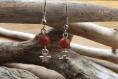 Boucles d'oreilles en pierre - agate du feu