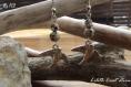 Boucles d'oreilles en pierre - jaspe gerbe d'or