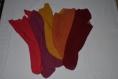 Echarpe châle douillette tricotée au point mousse