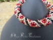 Bracelet spirale petites fleurs en perles