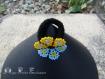 Fleur huichol 4 sur bande élastique noire