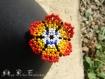 Fleur huichol 2 sur bande élastique