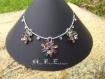 Collier pendentifs fleurs crystal vitrail médium