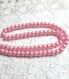50 perles rose kawaii verre nacré 6mm