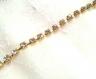1m chaîne dorée strass en verre couleur cristal 3mm
