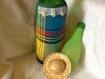 Tablier pour bouteille en madras vert