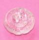 804r / petit bouton ancien fleur en verre transparent 13mm
