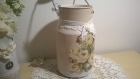 Ancien pot au lait shabby chic