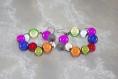 Boucles d'oreilles créoles perles multicolores