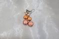 Boucles d'oreilles pendantes orange et doré