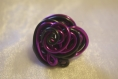 Bague fil alu noir et violet