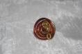 Bague fil alu rouge et doré