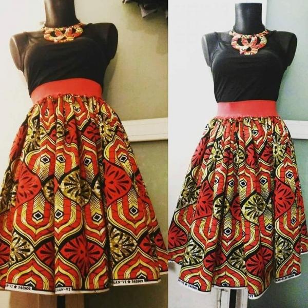 178452f106745 Jupe en tissu africain pagne wax   mode-femme par style-d-afrique