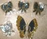 Breloques pour customisation - lot de 5 papillons