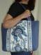 Cabas de ville dominique camaïeu de bleus