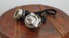 Goggles - lunettes steampunk avec loupe noires et argentés