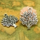 20 breloques antique silver tree charms 16mm ch0381