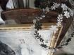 Couronne de métal et perles shabby lcv