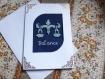 Carte de zodiaque brodee 250 fait main