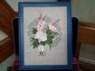 Bouquet de roses et lupin