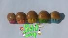 Barrette cupcakes multicolores (couleurs de l'arc-en-ciel)