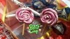 Boucles d'oreilles lollipops roses et blanches