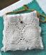 Petit sac fantaisie.sac à main en crochet coton avec napperon