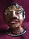 Statuette personnage argile,pièce originale. cadeaux très décoratif et chaque pièce étant réalisée à la main.pièce unique