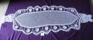 Napperons crochet d'art faits main coton de 180x60cm