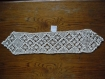 Napperons crochet d'art faits main coton de 65x13cm