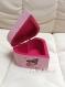 Boîte à bijoux en bois rose pailletée