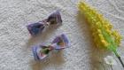 Duo de barrettes aux petits chouettes -- pièce unique