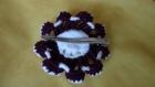 Fleur en laine - au crochet en fil de tricot  -- pièce unique
