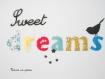 Appliqués thermocollants sweet dreams petit oiseau flex noir