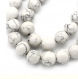 20 perles howlite 8mm blanc ronde marbrée fissure shamballa lot m02509