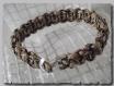 Bracelet homme fermoir ancre macramé paracord marron 20,5 cm
