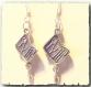 Boucles d'oreilles à pendants trousse à outils en métal argenté