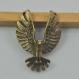 3 breloques en bronze, 11x31x40mm aigle